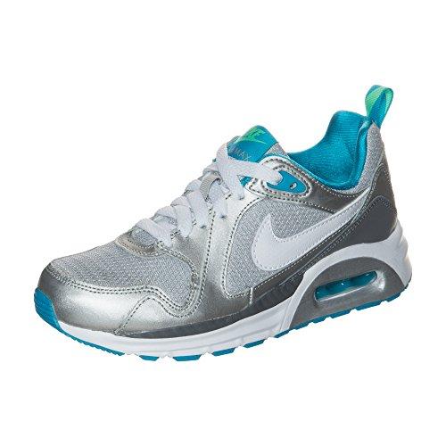 Nike Air Max Trax (Gs) Sneakers da ragazza, Argento (argento), 37.5 EU