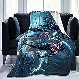 Bat-Man - Manta de franela para cama de 203 x 152 cm