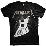 Metallica Papa Het Guitar Hombre Camiseta Negro XXL, 100% algodón, Regular