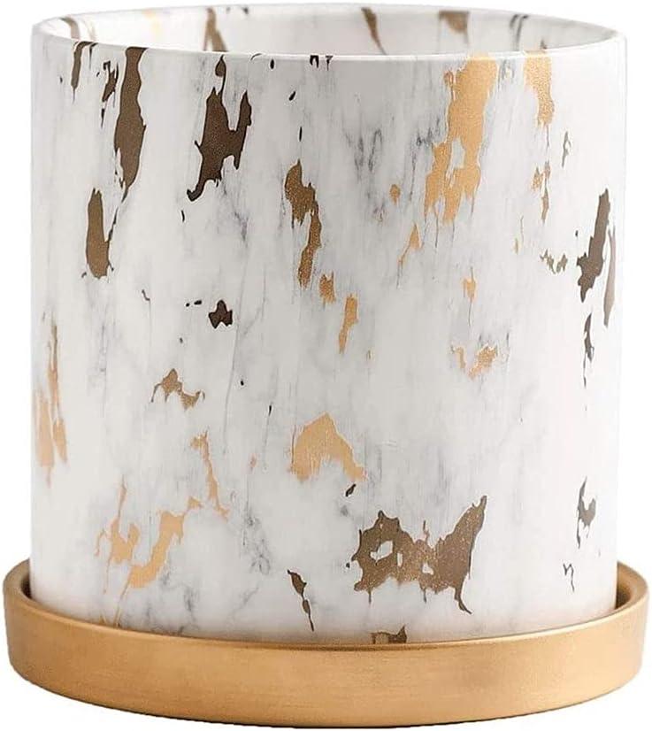 Limited price BUNCC Modern Minimalist Philadelphia Mall Ceramic Style Straight Flowerpot Nordic