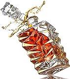 Decantador de whisky 850 ml Whiskey CHAAFES Licor de cristal Decantadores para Borbón, Scotch Fácil de usar 3.18 (Color: Transparente, Tamaño: 850ml) ( Color : Transparent , Size : 850ML )