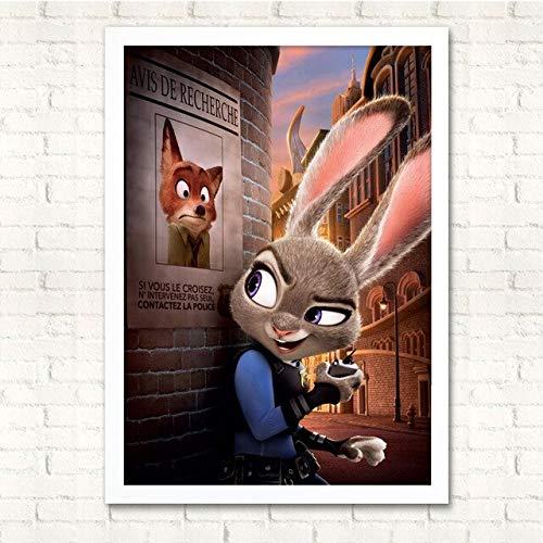 Fymm丶shop Zootopia/Zootropolis Poster Flash Cartoon Dekorative Malerei Faultier Super Süße Kinder Schlafzimmer Nachttisch Wandbild 40X50Cm (sl3291)