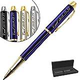 Stylo Personnalisé,avec gravure de prénom ou texte au choix,cadeau stylo personnalisé-Encre noire et 0.7mm (Stylo à bille bleu)