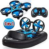 Mini drone pour enfants, bateaux télécommandés pour piscines et lacs, voiture RC 3...