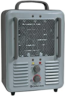 Comfort Zone CZ798 1500 Watt 3-Prong Milkhouse Utility Heater, Grey