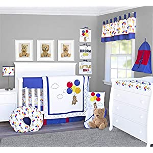 Pam Grace Creations 13 Piece Bears and Balloons Crib Bedding Set