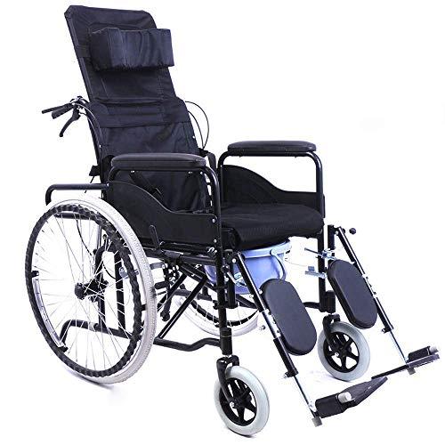 Leichter klappbarer Rollstuhl, tragbare Transit-Rollstühle mit hoher Rückenlehne und hoher Rückenlehne und Gerät für ältere behinderte und behinderte Benutzer