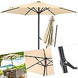 KESSER® Sonnenschirm Alu Ø 270cm Kurbelsonnenschirm Gartenschirm Ampelschirm 2,7m Wasserabweisende Bespannung - Sonnenschirm Schirm Gartenschirm Marktschirm