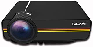 Mini Portable DZ-1200 LED Projector Full HD Support 1080P USB HDMI AV VGA SD Home Theater PC, Black, DZ-1200