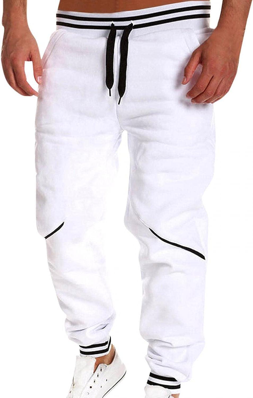 Burband Mens Max 84% OFF Workout Athletic Columbus Mall Elastic Jogging Waist Sports Pants