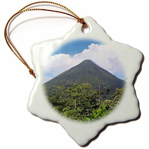cwb2jcwb2jcwb2j 3-Inch Porcelain Snowflake Decorative Hanging Ornament, Arenal Volcano National Park, Costa Rica-Miva Stock