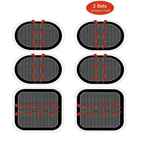 HARMILIY Ersatz-Elektroden-Pads für Bauchgurte, selbstklebend, 6 Stück