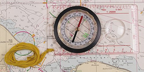 Karten-Kompass flüssigkeitsgedämpft