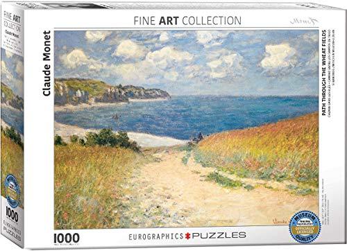 Eurographics Monet Chemin Dans Les Bles a Pourville, Jigsaw Puzzle 1000 Pezzi