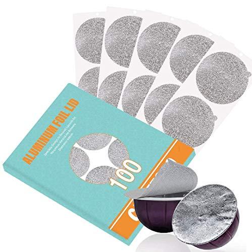 Couvercles en aluminium CAPMESSO pour réutiliser les capsules de café en capsules Vertuoline compatibles avec la machine Nespresso VertuoLine 64 mm (100 / paquet) (100)