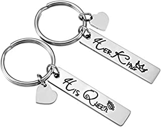 Key Chain with (2 Key Rings and Gift Box) Key Chain Car Key for Women and Men,Couples(Simple Strong,Stainless Steel) Gifts