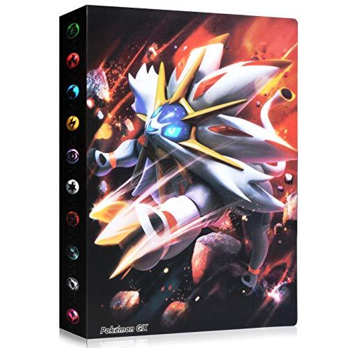 Funmo Álbum de Pokemon, Álbum Titular de Tarjetas Pokémon Pokemon Cards Album Pokemon Trading Cards GX EX Carpeta Libro 30 páginas 240 Tarjetas Capacidad (Leo)