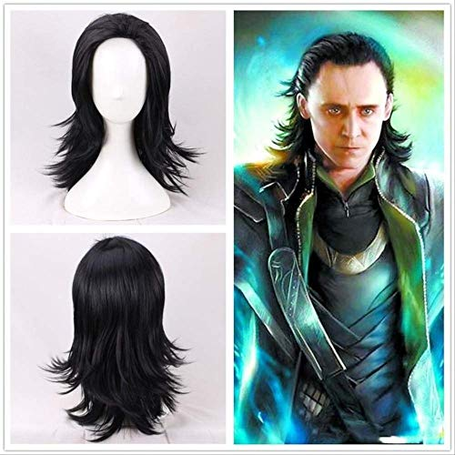 Peluca de los Vengadores Bruja Escarlata Viuda Negra Capitán Marvel Doctor Extraño Thor Gamora Loki Pelucas de Cosplay Talla única Loki