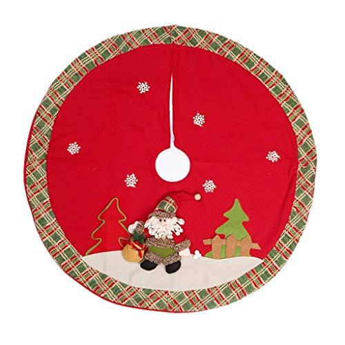 GCP Tree Skirts Christmas Tree Skirt Christmas Tree Skirt, Christmas Tree Apron Christmas Tree Skirts Seasonal Home Decoration;cor (Color: A)