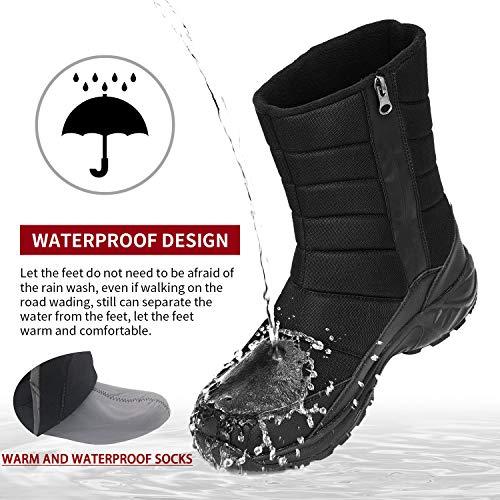 SILENTCARE Men's winter Mid-calf boots