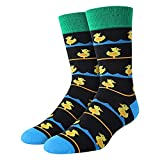 SOCKFUN Duck Socks for Men Boys Cute Rubber Ducky Socks, Novelty Funny Gift for...