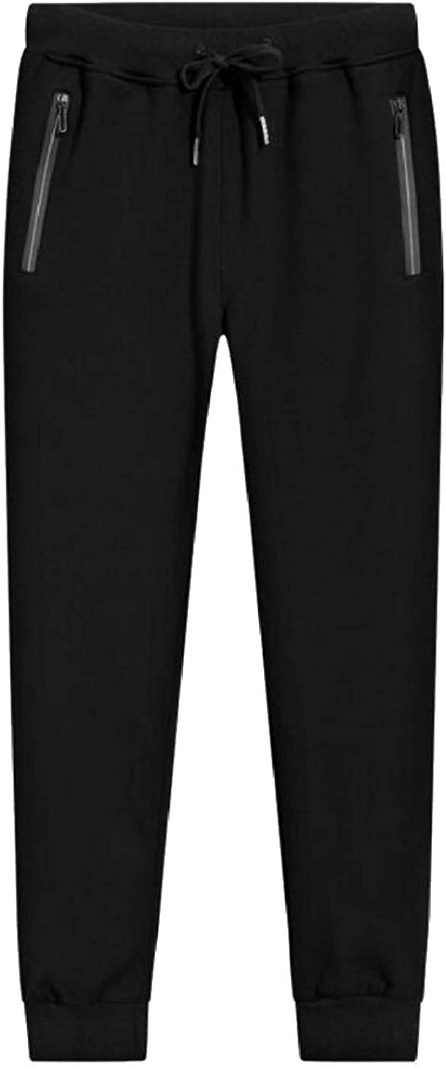 Xswsy XGCA Men's Comfy Faux Fur Lined Cotton Casual Athletic Jogger Pants