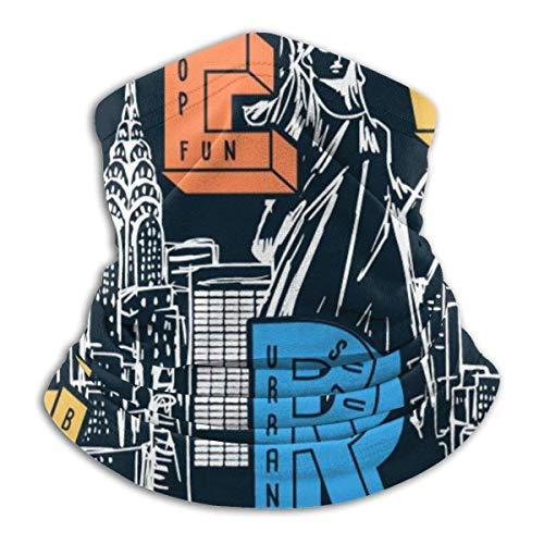 Vectores temáticos de Nueva York para Estampados de Camisetas y Otros usos Calentador de pasamontañas de Cuello Suave