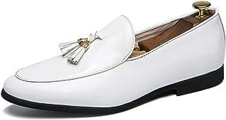 [Shuo lan JP] 靴 男性 ビジネス オックスフォード カジュアル ファッション タッセル パテントレザー 正式 シューズ 通気