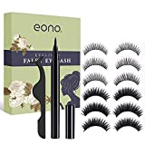 Magnetic Eyeliner and False Eyelashes, No Glue and Magnetic Eyelashes Eyeliner Self-adhesive Eyeliner Waterproof and Durable