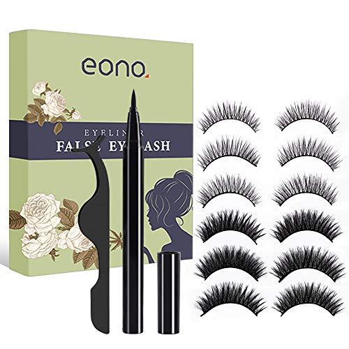 Magnetic Eyeliner and False Eyelashes, No Glue and Magnetic Eyelashes Eyeliner Self-adhesive Eyeliner Waterproof and Durable