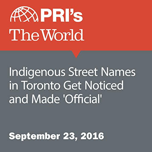 Indigenous Street Names in Toronto Get Noticed and Made 'Official' audiobook cover art
