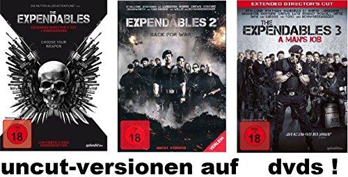 The Expendables 1-3 Extended, uncut, dvd Film Set, deutsch