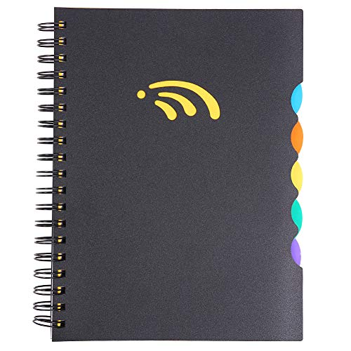 "5 Subject Spiral Notebook, B5 Notebooks and Journals, Wide Ruled, Lab Professional Notepad, Colored Dividers with Tabs, 10.01""×7.09"", 290 Pages, Hardcover Memo Planner for School Boys Girls Men Women"