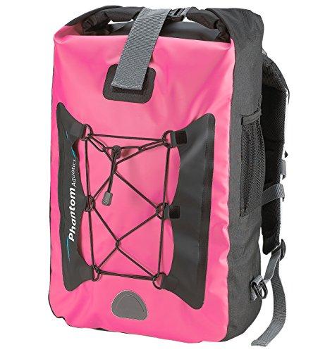 Phantom Aquatics Premium - Zaino impermeabile Dry Bag, 25 litri, colore: Rosa