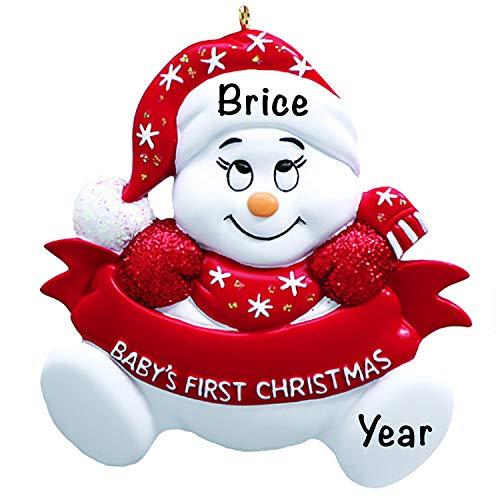 Baby's First Christmas Baby Keepsake Baby 2021 Ornament – Baby's First Christmas Ornament – Red Snow Baby 1st Christmas Ornaments for Baby Christmas – My First Christmas Baby Ornament