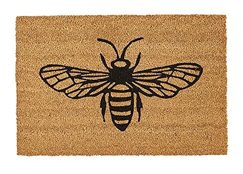 Tappetini per interni per porta d'ingresso e per esterni riparati, resistente zerbino, per interni (40 cm x 60 cm), tappetino per ingresso in fibra di cocco 100% naturale