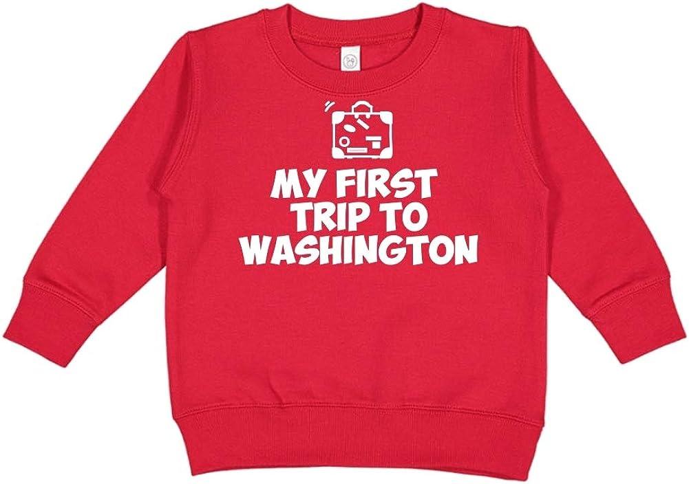 Toddler//Kids Sweatshirt Mashed Clothing My First Trip to Washington