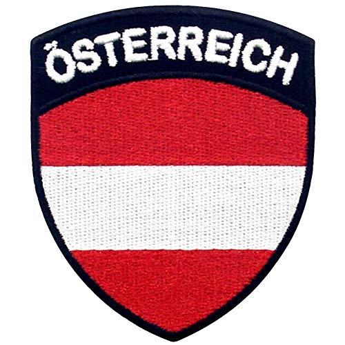 Österreich Schild Flagge Bestickter Aufnäher zum Aufbügeln/Annähen