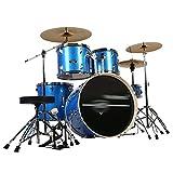 Tambores Percusión Adultos De Auto-Aprendizaje Jazz De La Fiesta Instrumentos De Música De Juego Profesional Set 5 3 Platillos (Color : Blue, Size : 160 * 120CM)