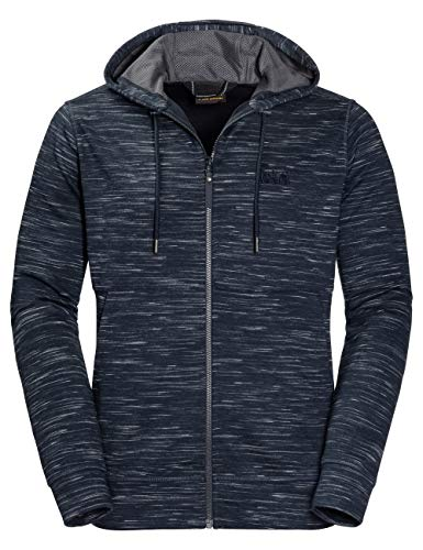Jack Wolfskin Herren Oceanside Hooded Fleecejacke, Night Blue, L