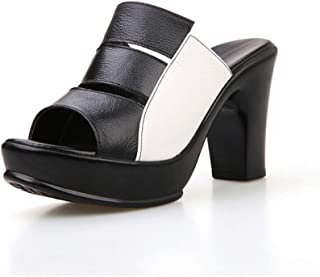Cosplay-X Women's High Heels Sandals Platform Open Toe Slippers Mules Outdoor Slipper Summer Evening Shoes