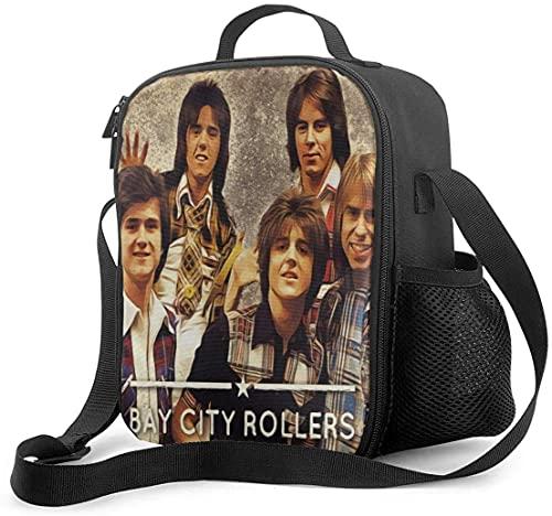 Hirola Bay City Rollers - Bolsa de almuerzo al aire libre, bolsa de almuerzo para la escuela, picnic, organizador de contenedores para adultos y niños