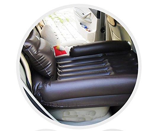 Lameila Kinder mit dem Auto Auto aufblasbare Matratze Autorücksitz Reisen verlängert Autofahrt Matratze, Coffee
