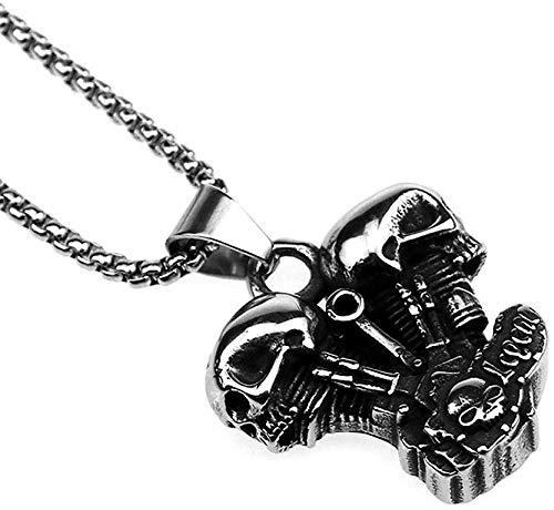 Xianglsp Co.,ltd 316L Edelstahl Halskette Motorrad Dampfmaschine Anhänger Halskette Punk Gothic Halskette Männer Frauen Rock Hip Hop Schmuck