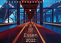 Visit Essen 2022 (Tischkalender 2022 DIN A5 quer): Essen, die wandelbare Stadt an der Ruhr - gruen, vielseitig und liebenswert (Monatskalender, 14 Seiten )