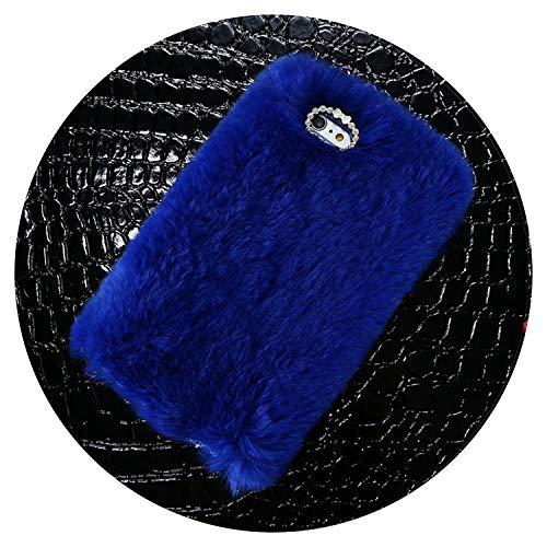 iPhone 6 6s 7 8 Plus Strass Fell Flauschige Hüllen für iPhone X 5s 5 SE Zubehör Capinhas, for iPhone 8, blau