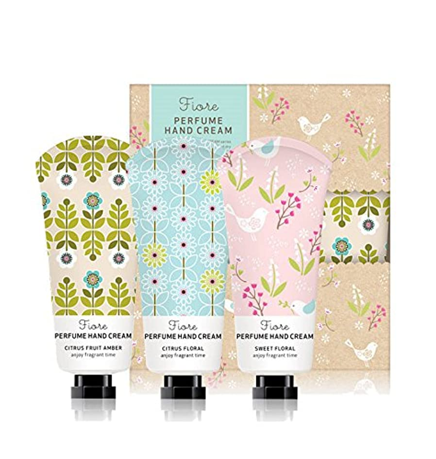 欠員道徳教育品[Fiore★ギフト用紙袋贈呈] パフュームハンドクリーム?スペシャルセット 60g x 3個セット / Perfume Hand Cream Specail Set