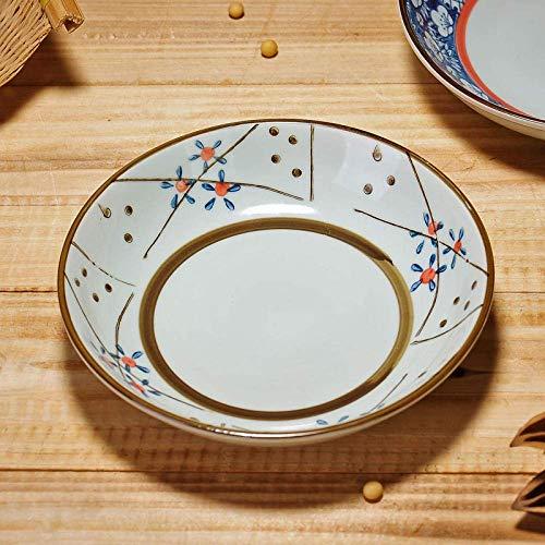 BXU-BG Juego de porcelana de estilo japonés placa de cerámica creativo esmalte color occidental plato plato de fruta plato plato postre plato para el hogar café