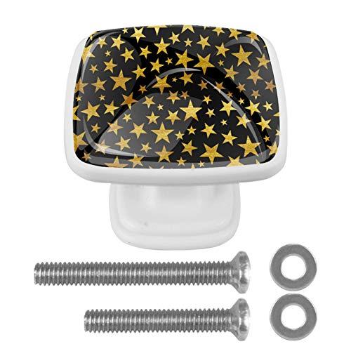 Paquete de 4 pomos con tornillos para gabinetes de cocina, t