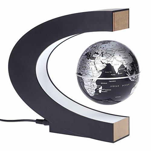 KKmoon C schwebender Globus, magnetisch, drehend, mit LED-Beleuchtung; Dekorativ und informativ, für zu Hause im Büro oder als Geschenkidee